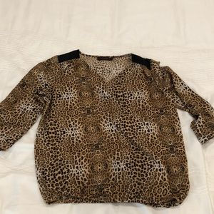 Animal Print Top The Limited sz Small